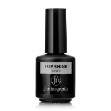 Верхнее покрытие Top Shine Fantasy Nails Silver(15мл)